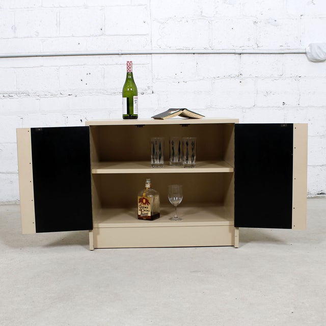 Milo Baughman Bar / Media Cabinet With Rosewood Doors For Sale - Image 10 of 10