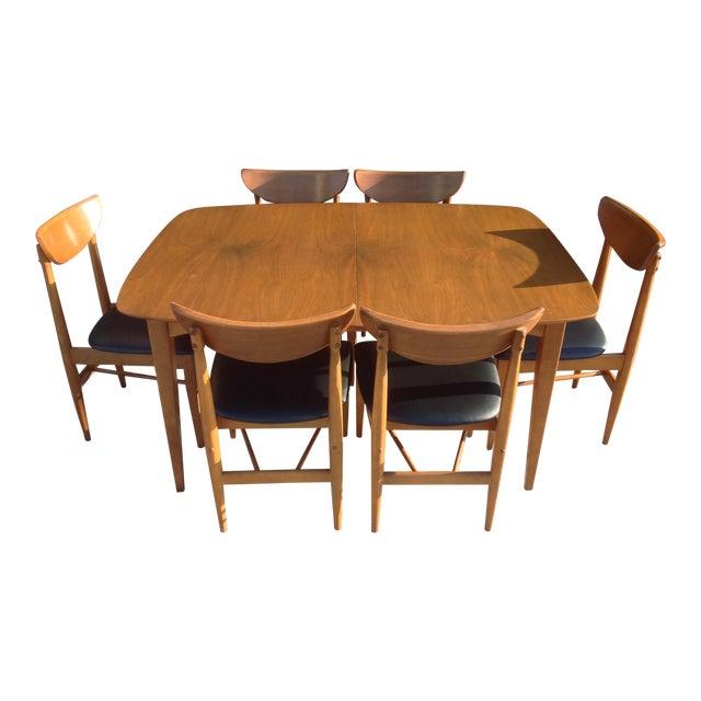 1960's Walnut Dining Set, B.P. Furniture - Image 1 of 7