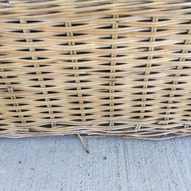 Rattan 1970s Boho Chic Rattan Club Chairs - a Pair For Sale - Image 7 of 11
