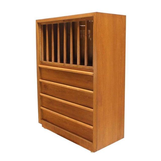 Large Robsjohn-Gibbings Dresser Secretary w Bookcase For Sale - Image 9 of 9