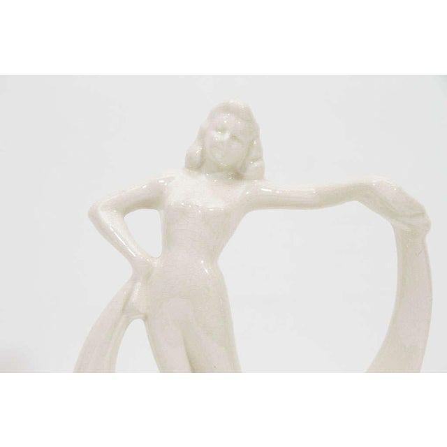 Art Deco Dancing Flapper Ceramic Sculpture For Sale In New York - Image 6 of 7