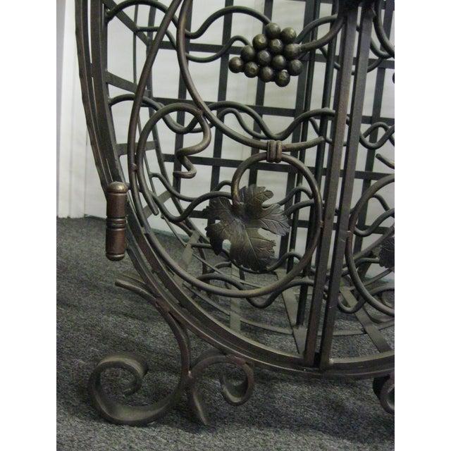 Custom Wrought Iron 24-Bottle Wine Cage - Image 5 of 10
