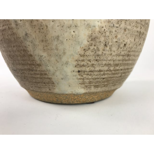 Mid Century Modern Stoneware Studio Pottery Covered Canister For Sale - Image 4 of 8