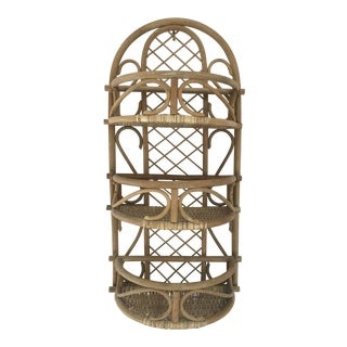 Rattan Wall Shelf For Sale