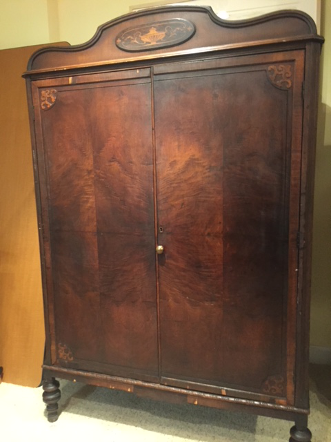 Antique Walnut Armoire   Image 3 Of 10