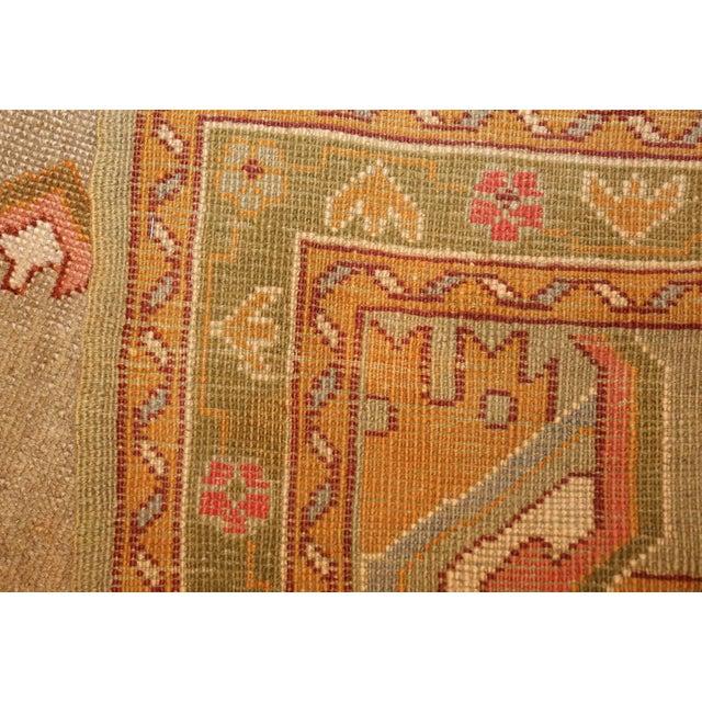 Textile Antique Turkish Oushak Square Rug - 3′10″ × 4′ For Sale - Image 7 of 10
