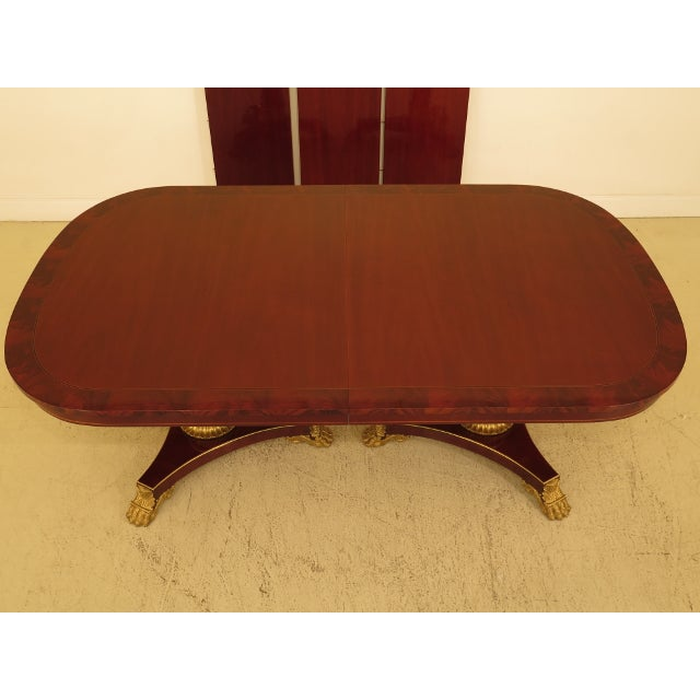 Georgian 1990s Vintage Kindel NeoClassical Mahogany Dining Room Table For Sale - Image 3 of 13