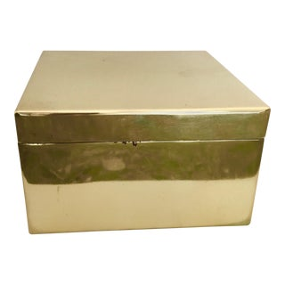 Modern Brass Lidded Square Box