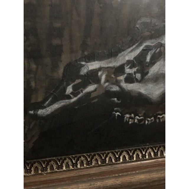 Brown Black and White Watercolor of an Animal Skull For Sale - Image 8 of 11