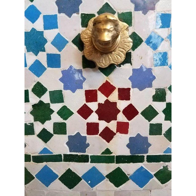 Islamic Moroccan Mosaic Fountain For Sale - Image 3 of 5