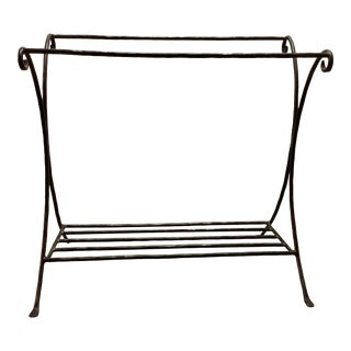 Shabby Chic Pottery Barn Wrought Iron Blanket Quilt Rack