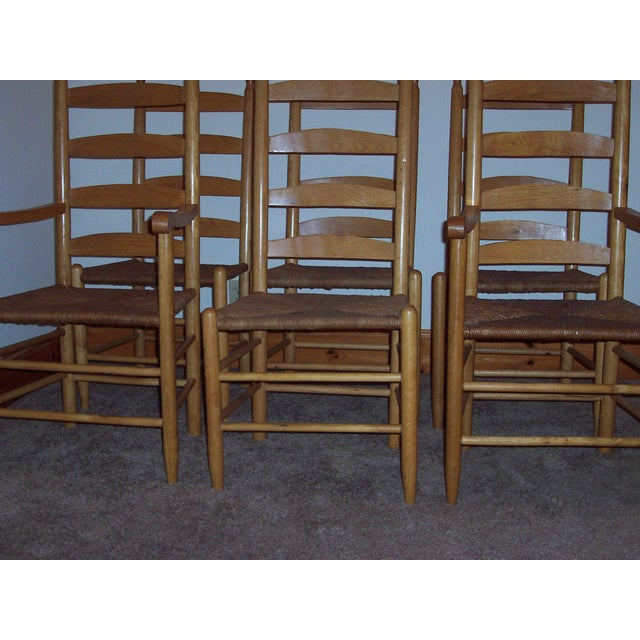 Set of 6 Ladder Back Chairs - Image 3 of 6