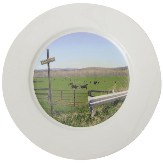 """Upstate Collection"" Porcelain Charger/Serving Plate - Image 1 of 8"