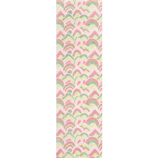 "Madcap Cottage Embrace Cloud Club Pink Area Rug 2'3"" X 8' Runner For Sale"