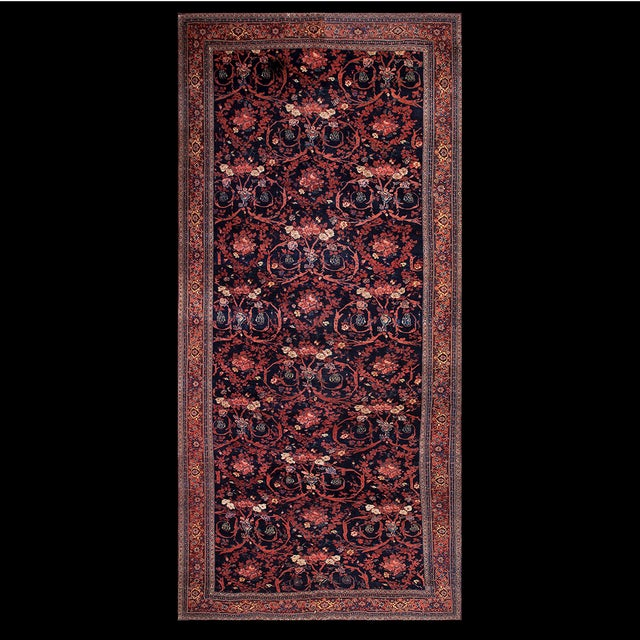"Textile Antique Bijar Persian Rug 9'3"" X 20'3"" For Sale - Image 7 of 7"