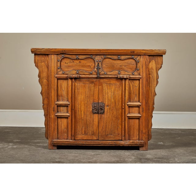 19th C. Chinese Elm Altar Cabinet For Sale - Image 11 of 11