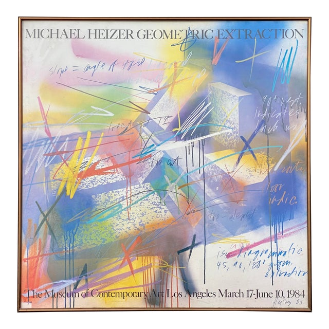 """Michael Heizer """"Geometric Extraction"""" 1984 Gallery Poster For Sale"""