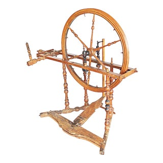 Mid 19th Century French Miniature Spinning Wheel For Sale