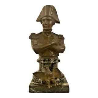 Antique French 19th Century Napoleon Bronze Statue. For Sale