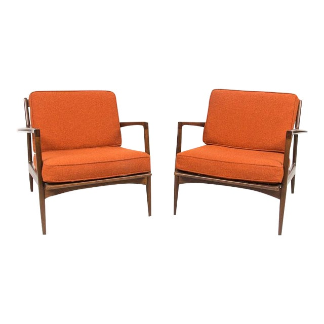 Selig Danish Mid Century Arm Chairs - Pair - Image 1 of 4