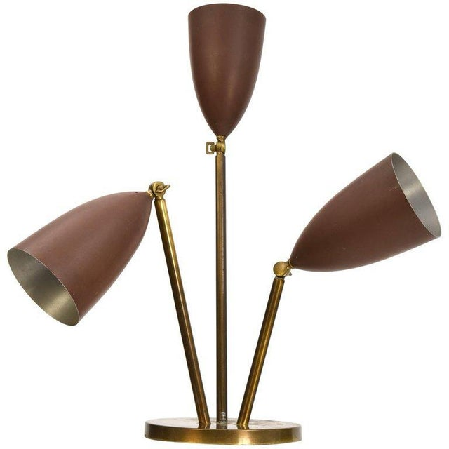 Rare 1940's Greta Magnusson-Grossman Table Lamp With Adjustable Shades For Sale - Image 13 of 13