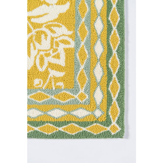 Transitional Madcap Cottage Under a Loggia Rokeby Road Yellow Indoor/Outdoor Area Rug 5' X 8' For Sale - Image 3 of 7