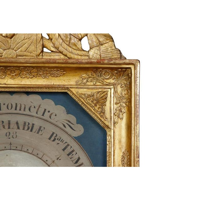 French 19th Century French Barometer in Giltwood Frame For Sale - Image 3 of 4