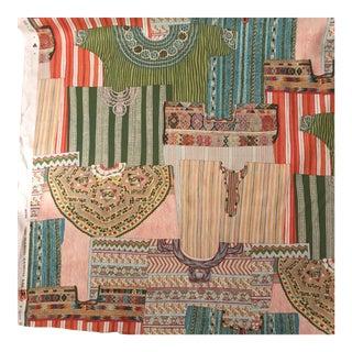 "Boho Chic Manuel Canovas Paris Linen Fabric ""Jeema"" - 16 Yards For Sale"