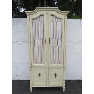 Tall French Carved Painted Armoire Wardrobe Preview