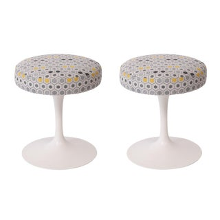 Eero Saarinen Knoll Swivel Stools - a Pair For Sale