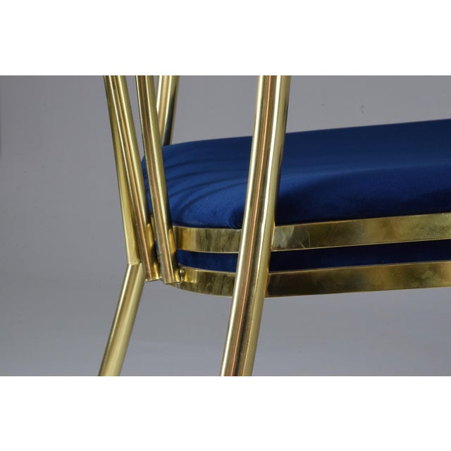 20th Century French Vintage Brass Armchair, 1970-1980 For Sale - Image 11 of 13