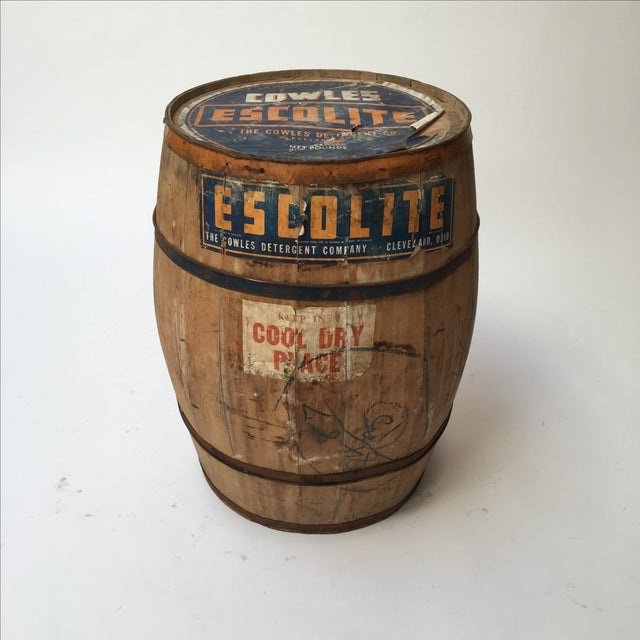 Antique Laundry Detergent Barrel - Image 4 of 9