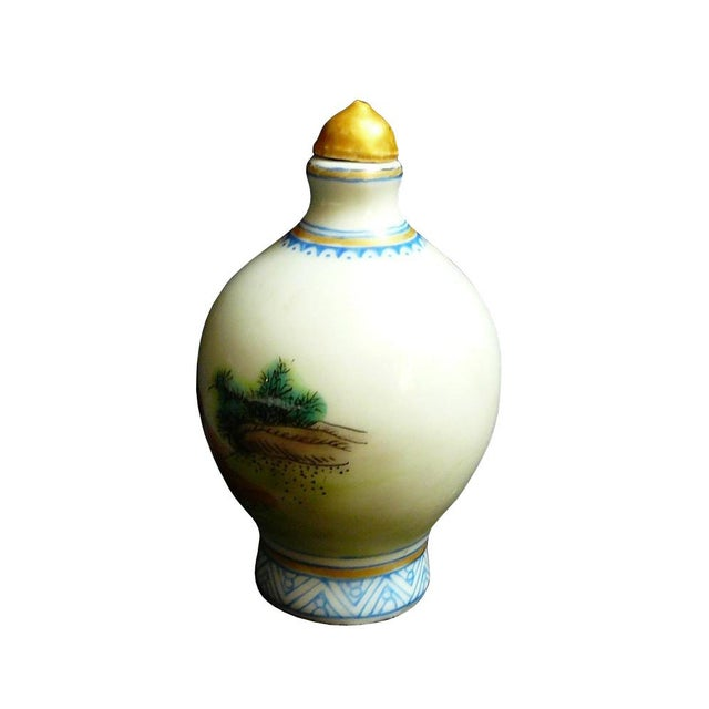 Asian Chinese Porcelain Hand Painted Snuff Bottle Display For Sale - Image 3 of 5