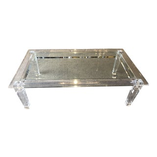 Regency Haziza Solid Acrylic and Glass Glamorous Coffee Table