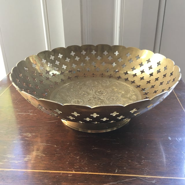 Brass Bowl With Quatrefoil Detail - Image 3 of 11