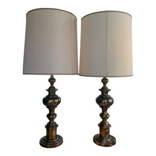 Stiffel Brass Lamps - a Pair For Sale