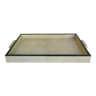 Natural Shagreen Rectangular Tray For Sale