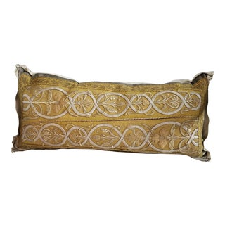 Antique French Ecclesiastical Metallic Gold Embroidered on Custom Down Pillow
