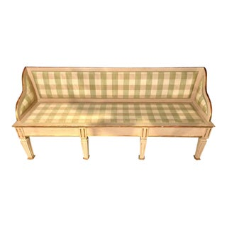 Swedish Italian Parcel Gilt and Paint Decorated Settee or Sofa For Sale