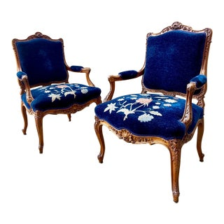 Early 19th Century French Rococo Style Armchairs - a Pair For Sale