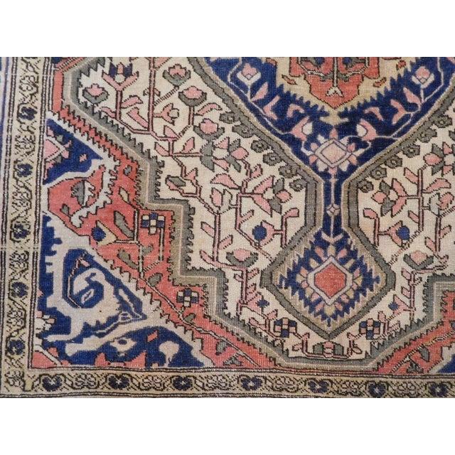 "Textile Antique Persian Sarouk Farahan Rug - 5'6"" x 7' For Sale - Image 7 of 10"