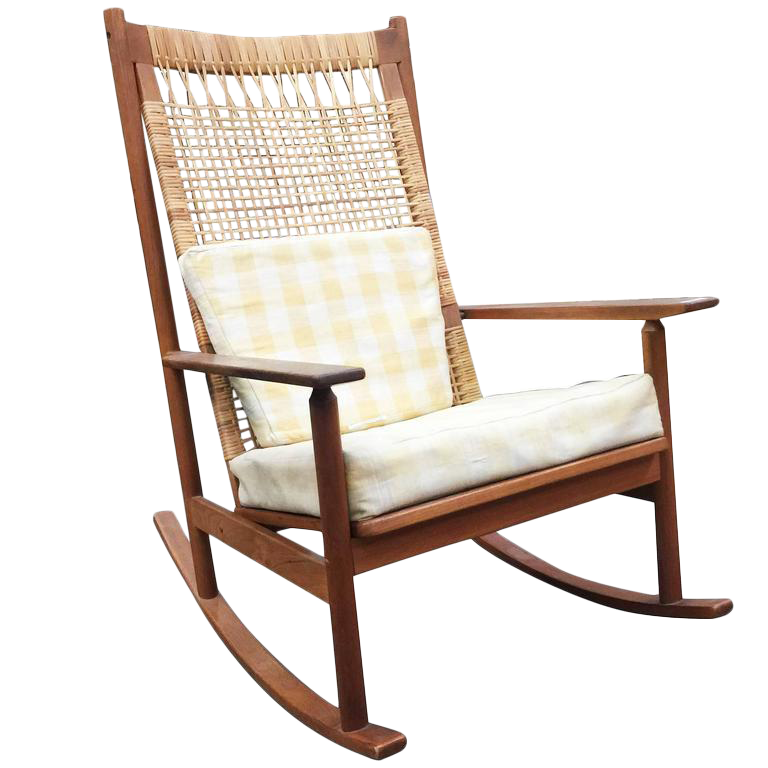 Danish Modern Rocking Chairs By Hans Olsen For Juul Kristiansen