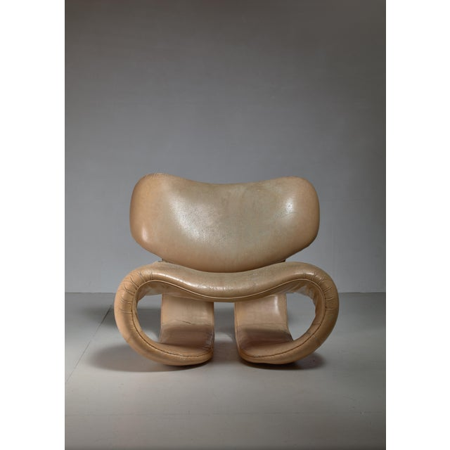 1970s Vittorio Introini Lounge Chair for Saporiti, Italy, 1970s For Sale - Image 5 of 7