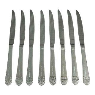 Waldorf Astoria Art Deco Steak Knife Set of 8 For Sale