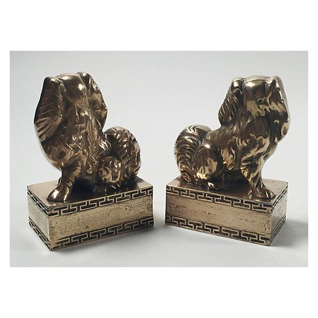 Brass Spaniel Bookends - Pair - Image 4 of 4