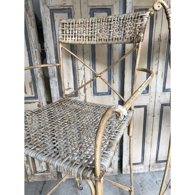 Metal Neoclassical Styled Metal Bar Stools, Pair For Sale - Image 7 of 13