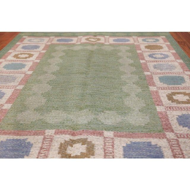 Vintage Swedish Kilim Rug by Anna Johanna Angstrom - 4′8″ × 6′8″ For Sale In New York - Image 6 of 9