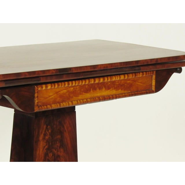 19th Century American Empire Card Table For Sale - Image 9 of 11