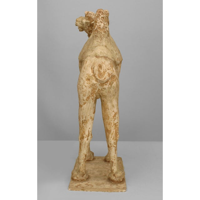 Asian Chinese Tang Dynasty Unglazed Pottery Camel For Sale In New York - Image 6 of 7