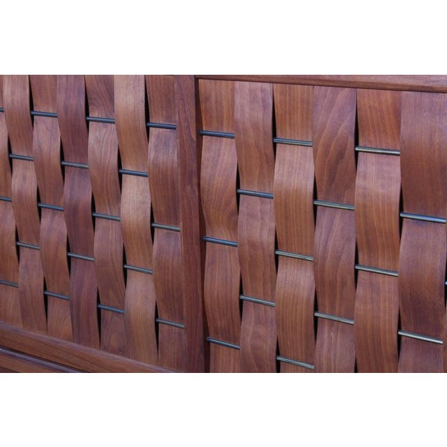 Woven Front Cabinet by Edward Wormley for Dunbar For Sale - Image 10 of 10